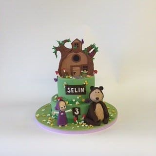 Custom Masha and bear birthday cake Yelp