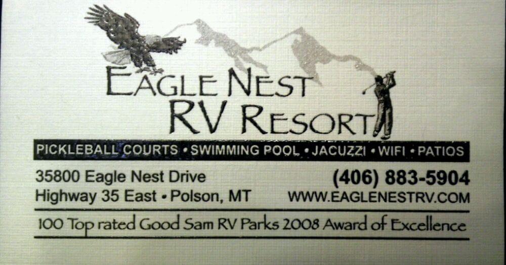 Eagle Nest Rv Resort: 35800 Eagle Nest Dr, Polson, MT