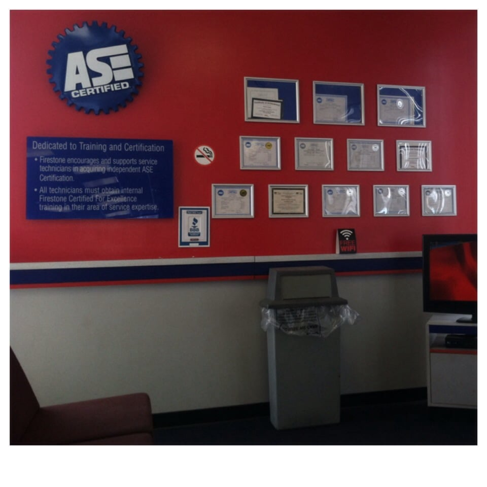 Ase certifications display in waiting area yelp photo of firestone complete auto care cleveland oh united states ase certifications 1betcityfo Image collections