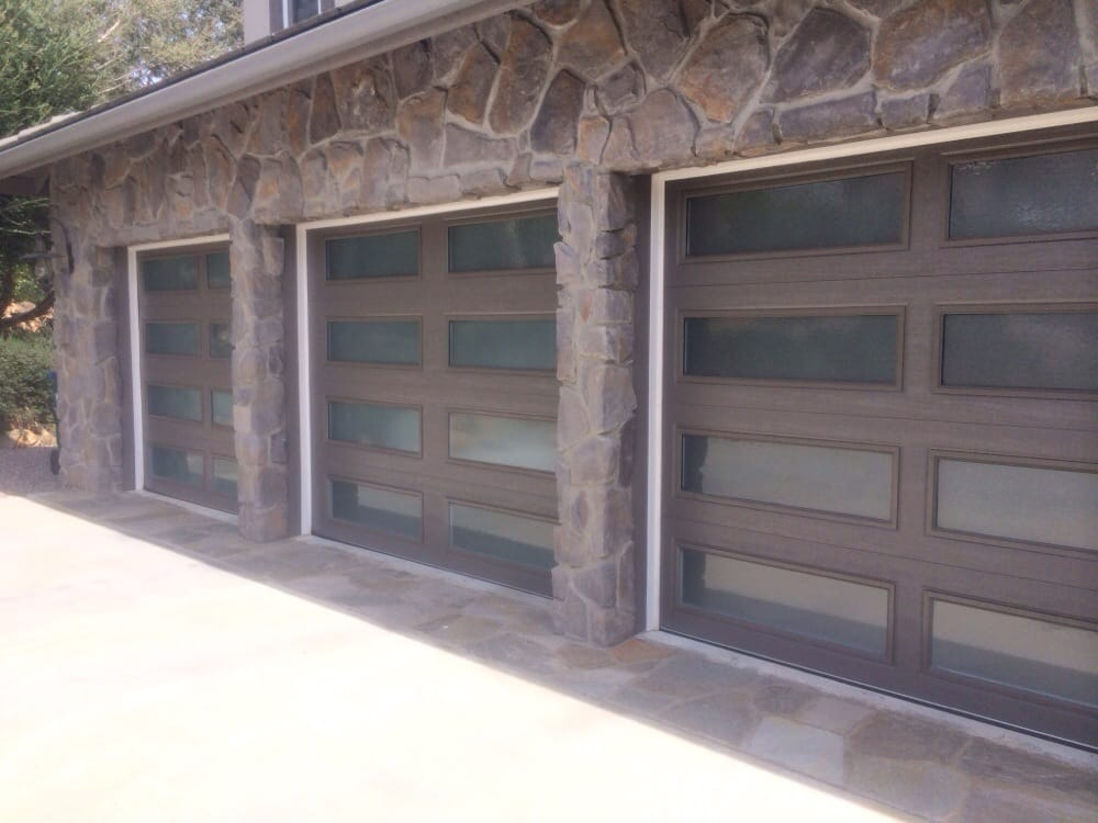 garage door replacement ideas - Insulated doors with insulated obscure glass Yelp