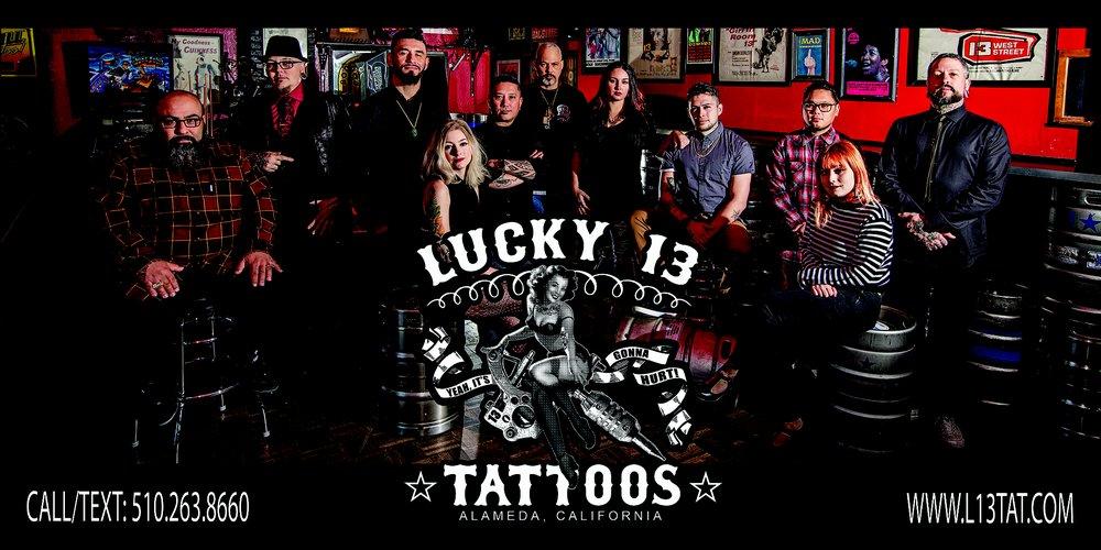 Lucky 13 Tattoos: 1301 Park St, Alameda, CA