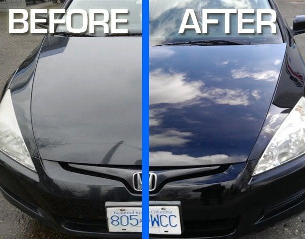 Before Amp After Shot Of A 2003 Honda Accord That Received A
