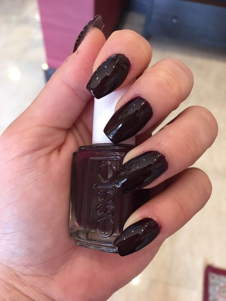 Nail Powder: Dip Powder Nails ($45) With Coffin Shape (+$5) And Essie