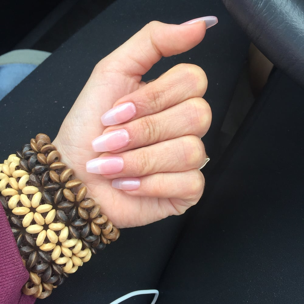 Natural pink coffin nails - Yelp
