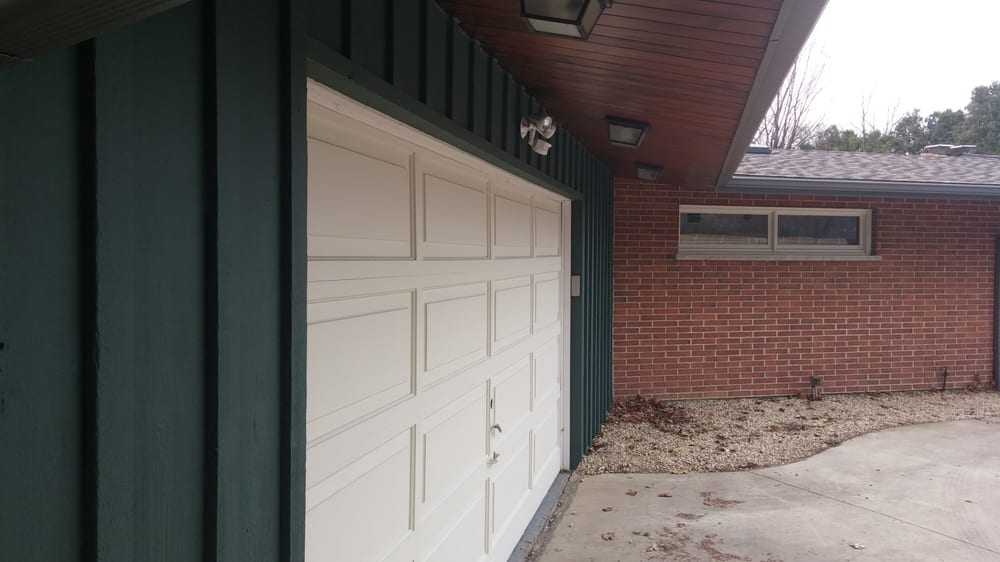 Before An Old Wooden Mckee Garage Door With Obsolete Parts Our