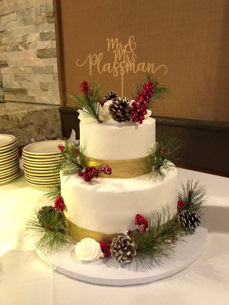 My December wedding cake: I found a cake design/photo on pinterest ...