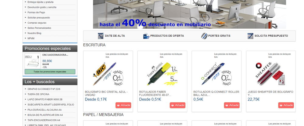 Venta material de oficina b roausstattung avinguda de for Oficinas ups valencia
