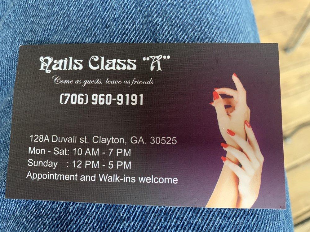"Nails Class ""A"": 128 Duvall St, Clayton, GA"