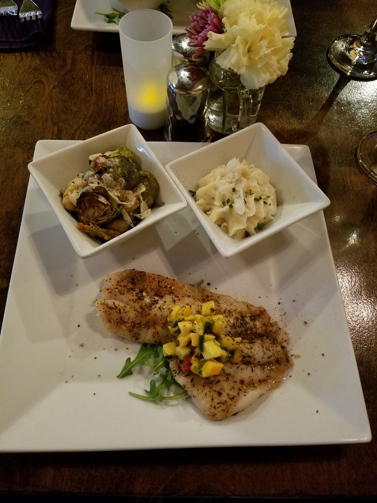 Off The Hook Key West Simple Half Of The Hogfish Dinner With Garlic Mashed Brussel Sprouts Yelp