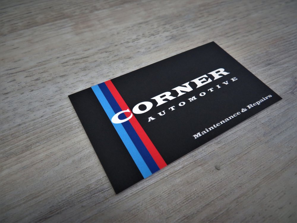 We designed corner automotives business cards to be raised spot uv photo of metropolitan connection printing van nuys ca united states we designed reheart Choice Image