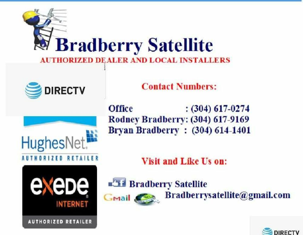Bradberry Satellite   Get Quote   Television Service Providers   104 B 4th  Ave, Huntington, WV   Phone Number   Yelp