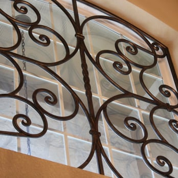 Decorative Faux Wrought Iron Window Insert Covering Design