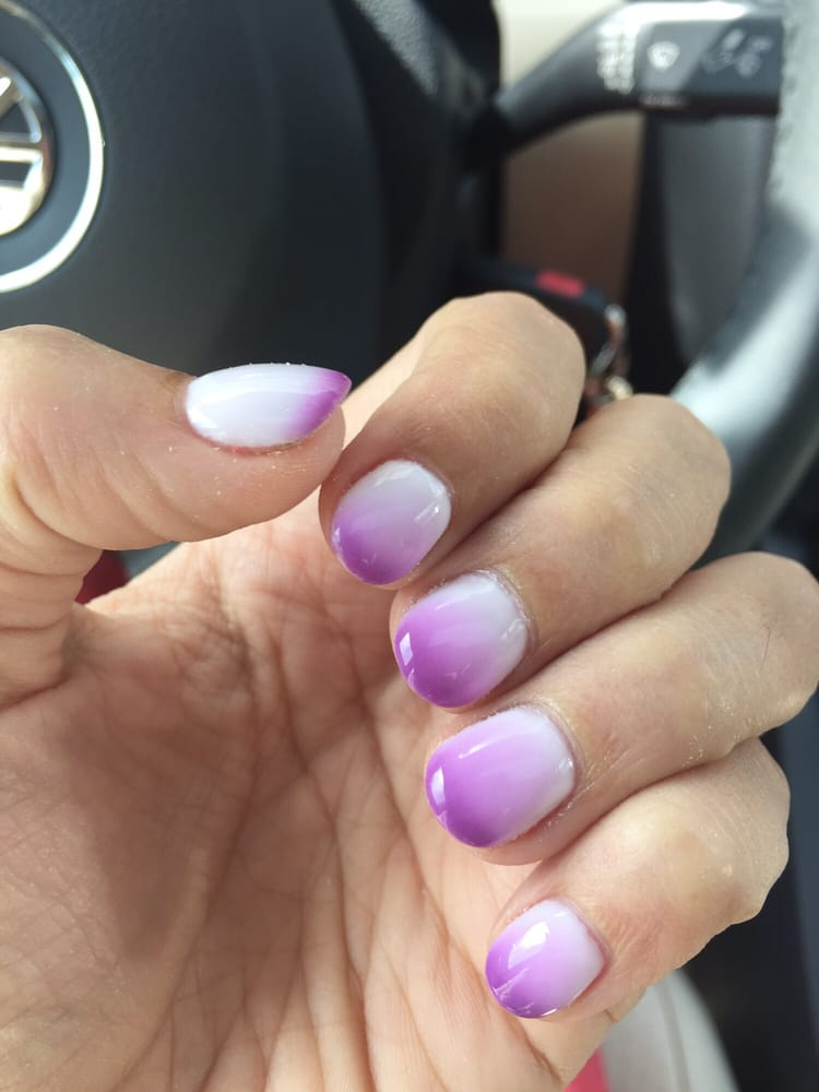 Gel manicure with acrylic nails. The polish is Mood Changing ...