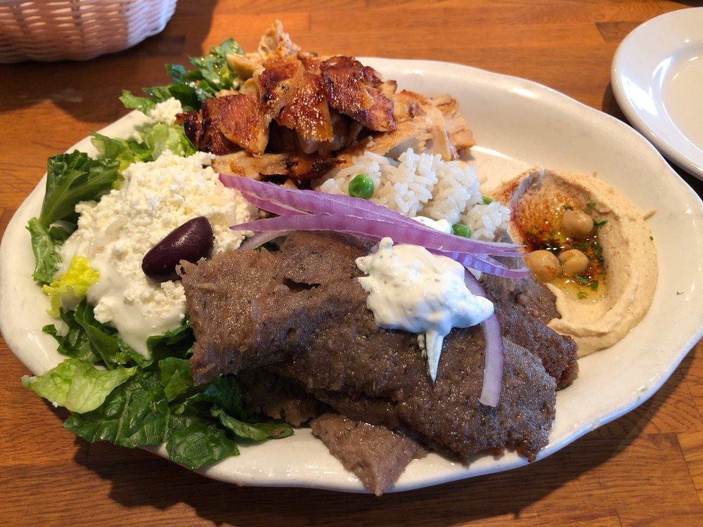 Food from Albasha Greek and Lebanese Cafe