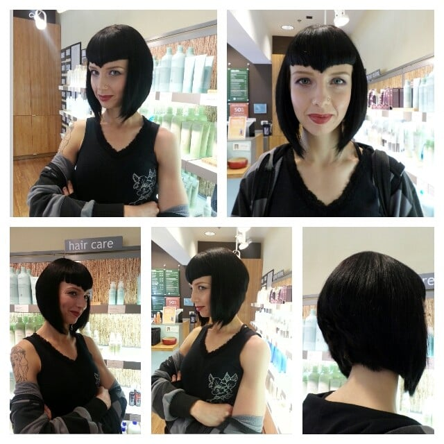 After Make Over A Line Bob Cut Vampire Bangs Styling Makeup By