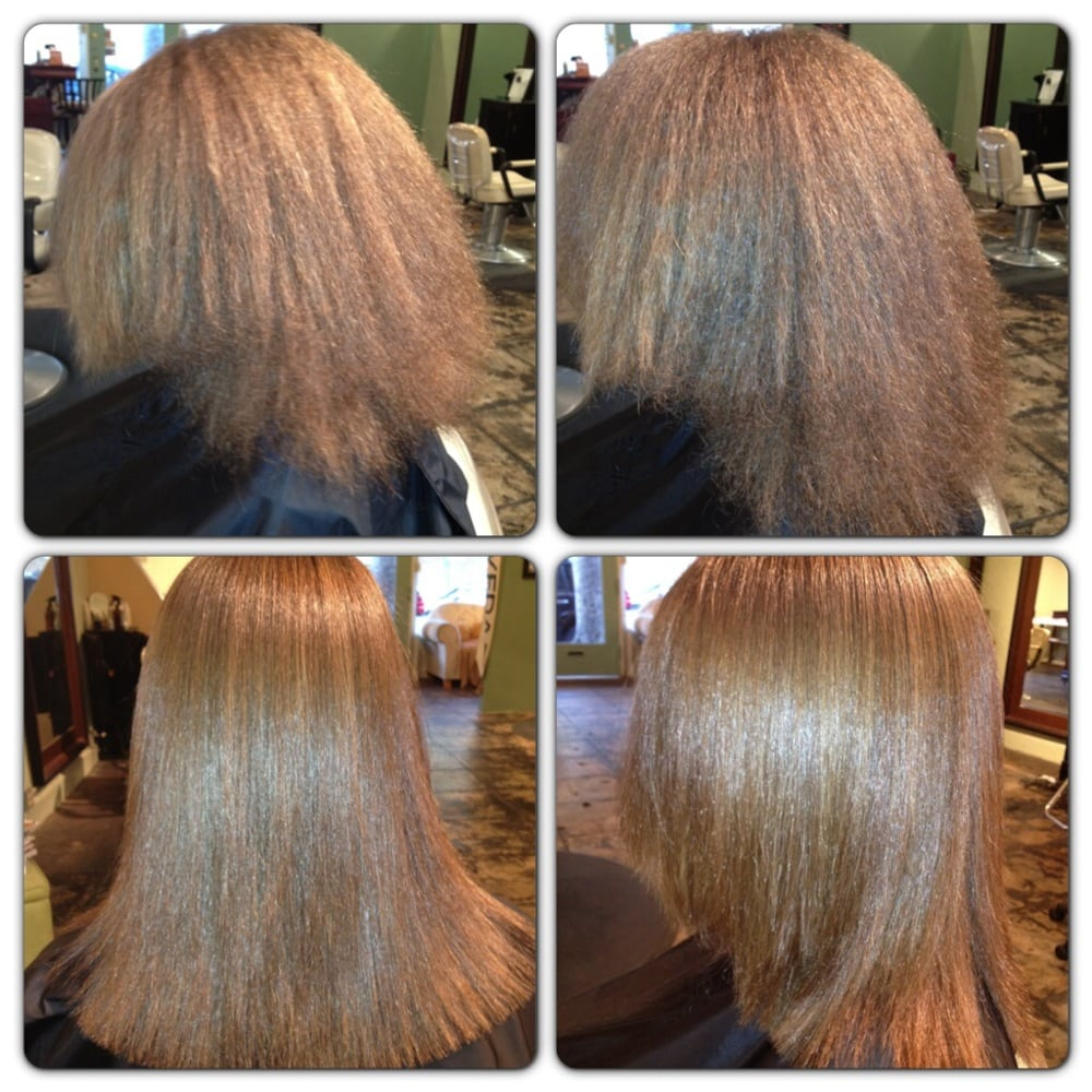 Blow dry, flat iron, trim very damaged hair, by Sanoma - Yelp