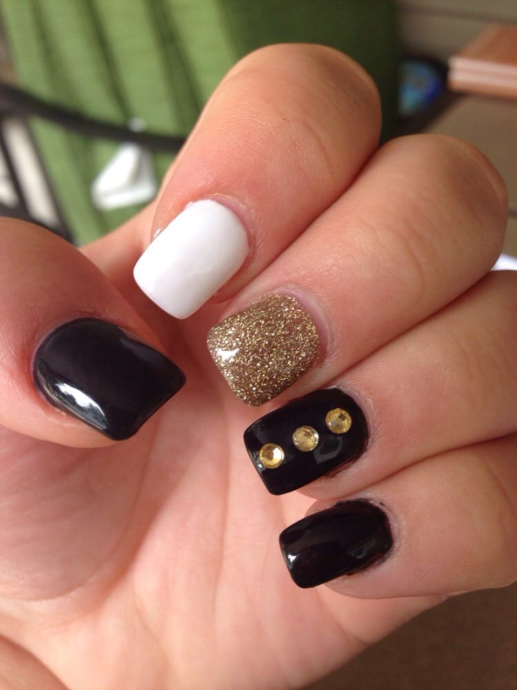 Black and Gold with Rhinestones - by Daniella - Yelp