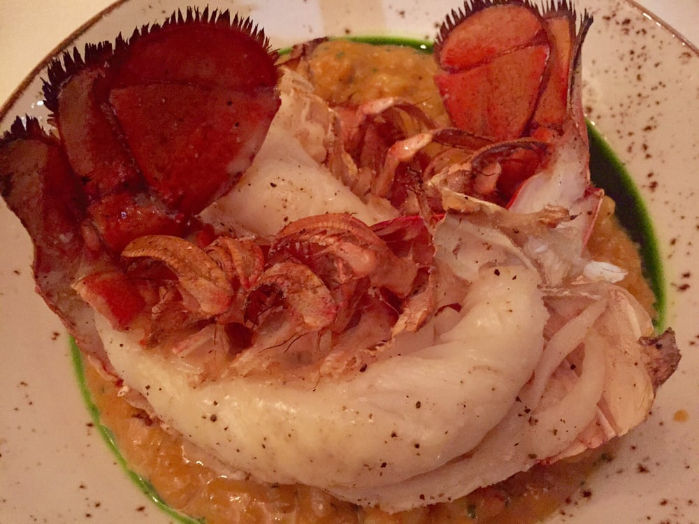 butter soaked lobster tail over risotto melts in your On 801 fish leawood