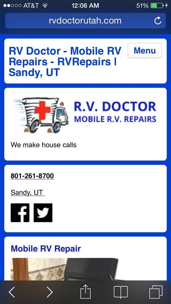 Rv Doctor - Mobile Rv Repairs: 1836 E 10980th S, Sandy, UT