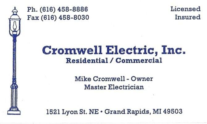 Cromwell Electric: 1521 Lyon St NE, Grand Rapids, MI