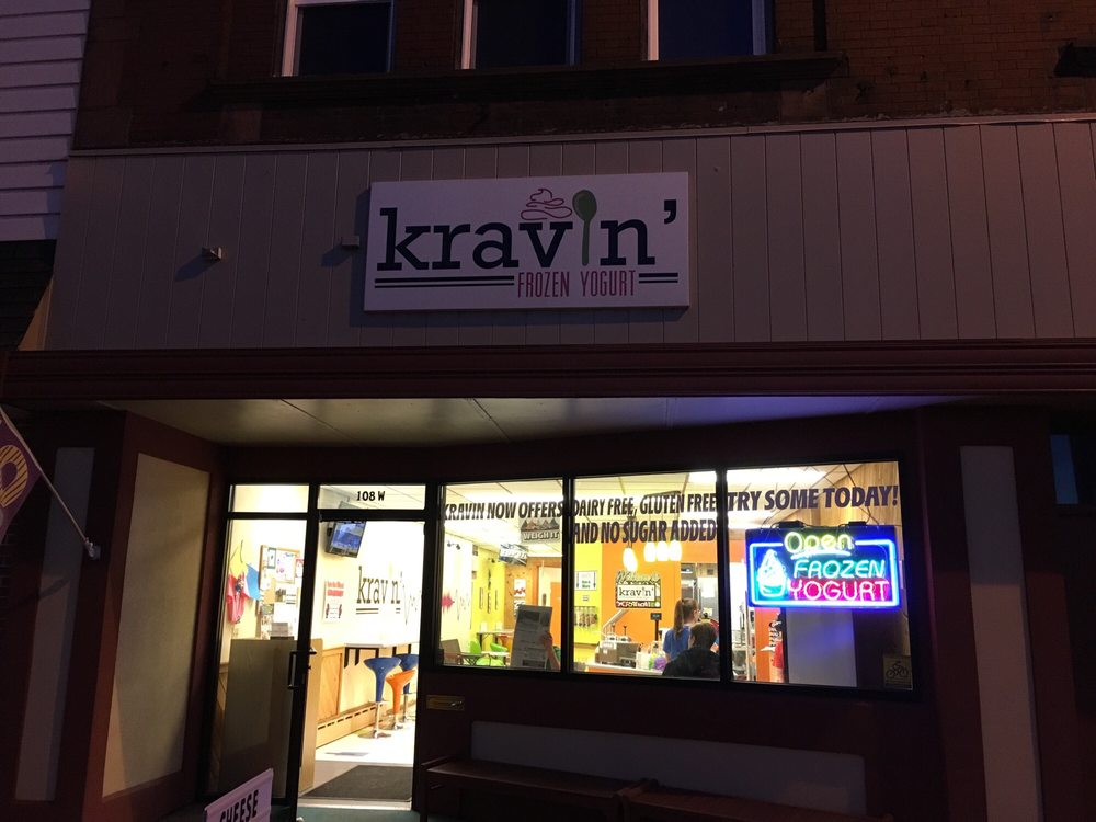 Kravin' Frozen Yogurt: 108 Main St W, Ashland, WI