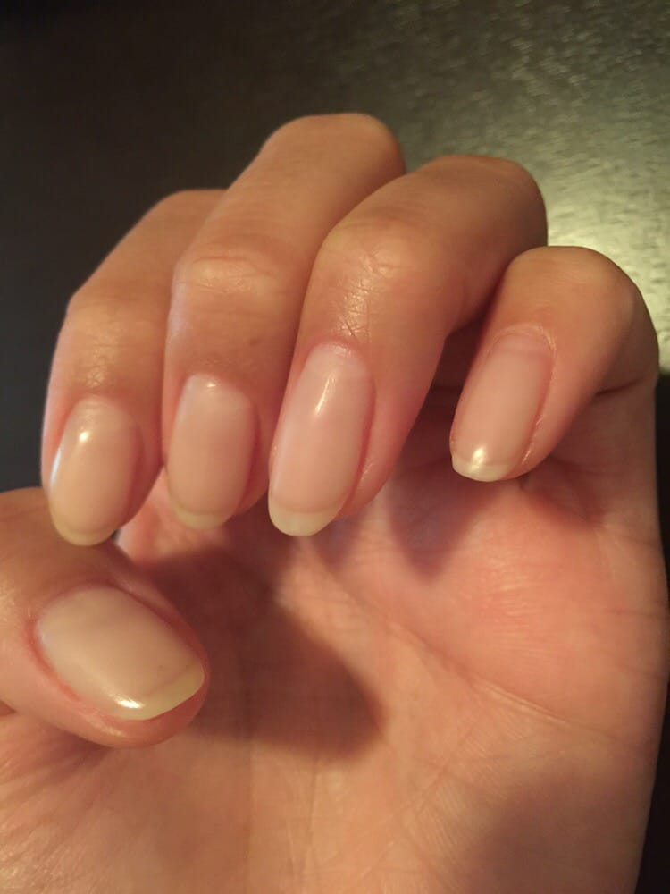 Extremely natural looking!Got nails trimmed down and gel polish #449 ...