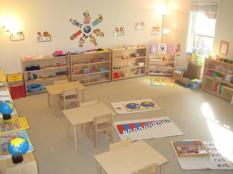 Montessori Classroom Wall Design ~ Sully montessori school classroom yelp
