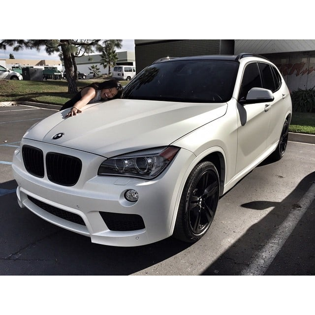 Bmw X1 Wrapped In Satin Pearl White Vinyl Yelp