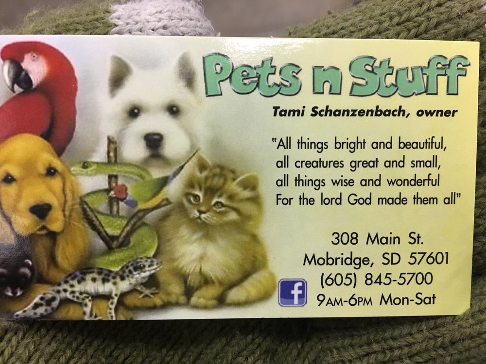 Pets N Stuff: 308 Main St, Mobridge, SD