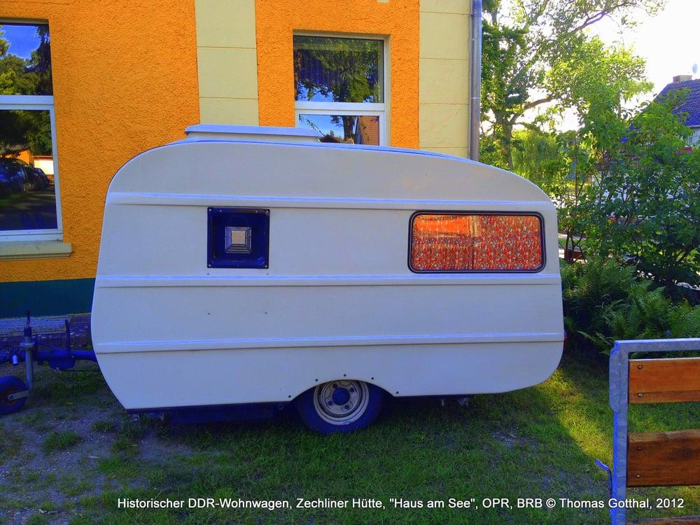 Historischer Ddr Wohnwagen Zechliner Hütte Haus Am See Opr Brb