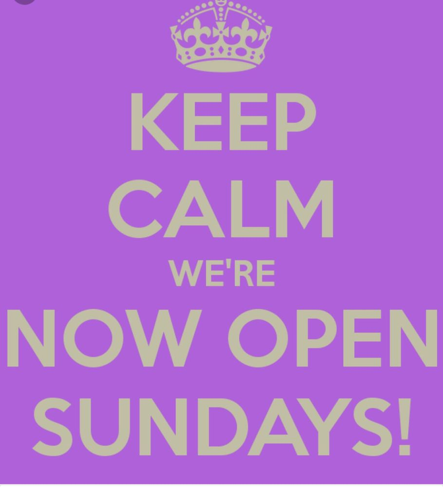 We Are Open Sundays From 1100am To 600pm Yelp