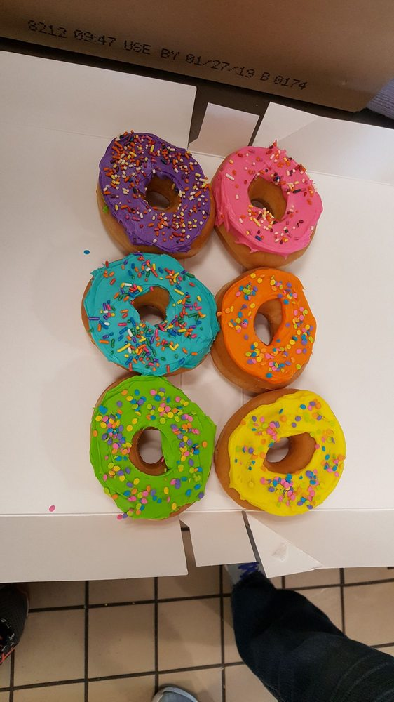 CUSTOM Donuts!!! PICK YOUR COLORS AND SPRINKLES! - Yelp