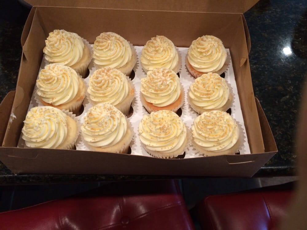 Wedding cake flavor with gold flakes. - Yelp