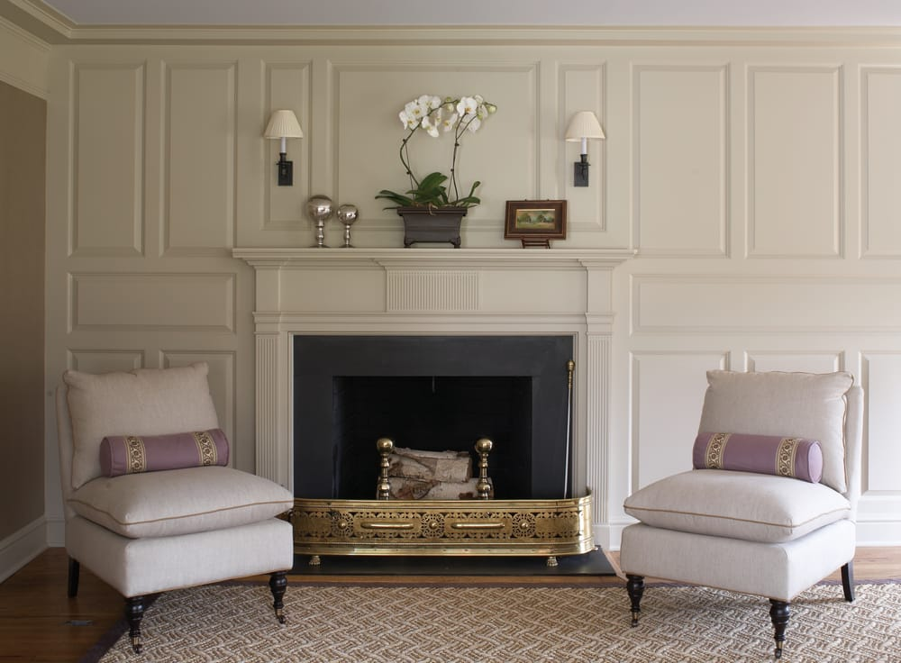 Wainscot Solutions Mantel with Raised Panel Full Wall Surround ...