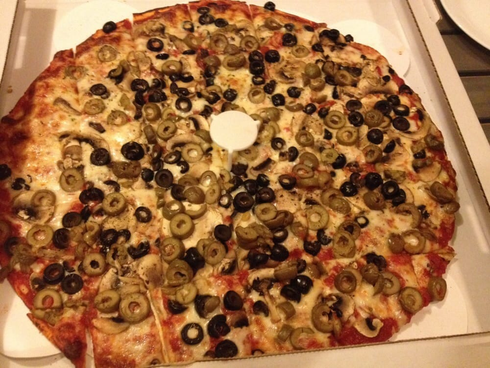 large mushroom black olive green olive pizza with extra sauce yelp. Black Bedroom Furniture Sets. Home Design Ideas