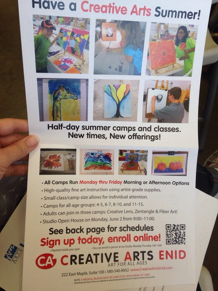 Creative Arts Enid Art Classes 217 N Washington Enid Ok