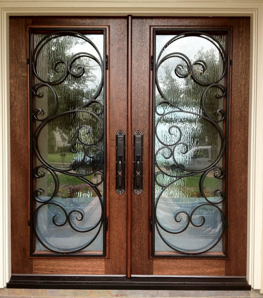 Wood Wrought Iron Double Front Entry Doors Sugar Land Texas Yelp