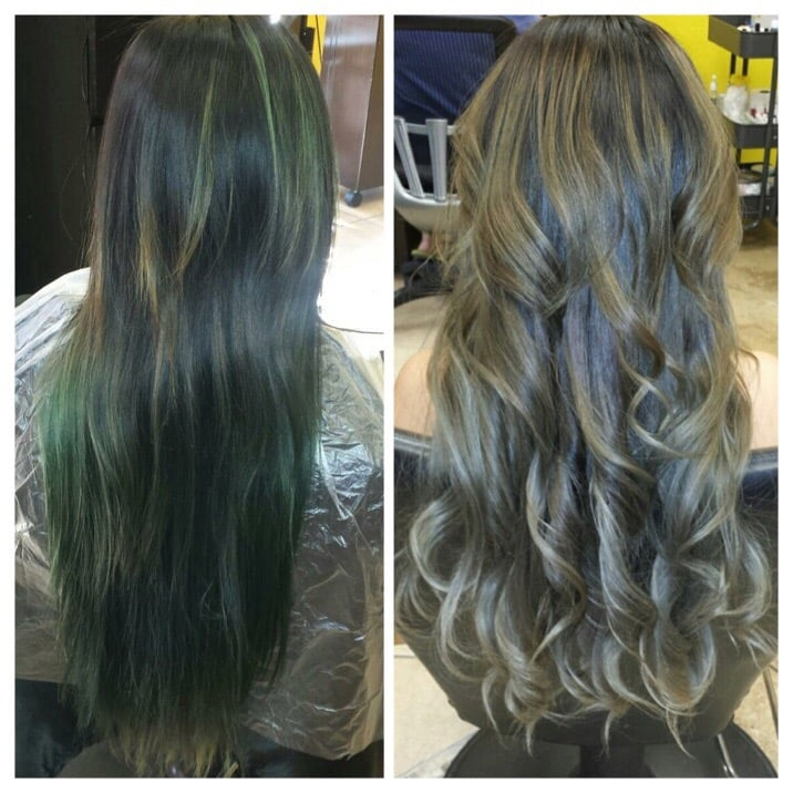 From Green To Ash Blonde Bayalage And Ombr Yelp