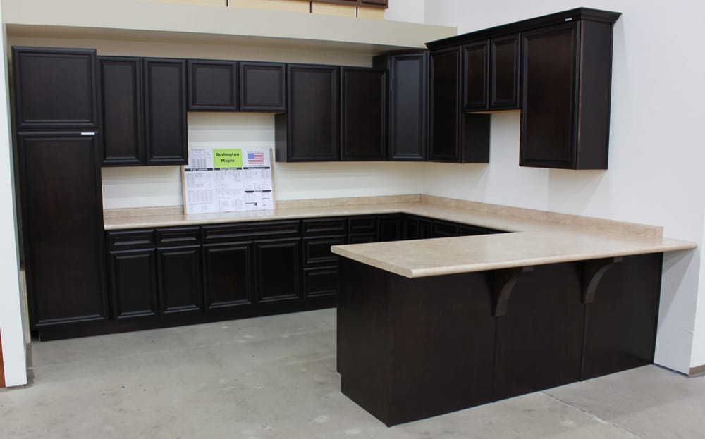 Burlington maple kitchen cabinets yelp for Bathroom cabinets yelp