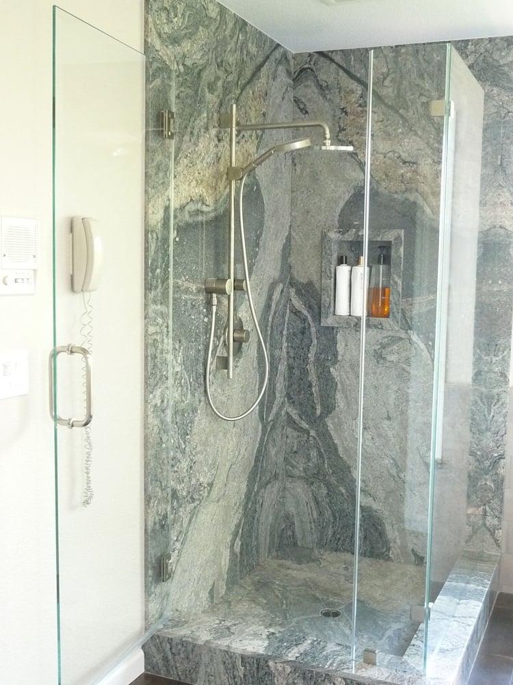 Piracema White Slab Shower Yelp