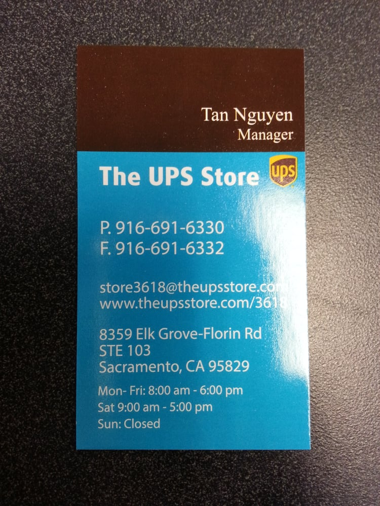 Business card in store - Yelp