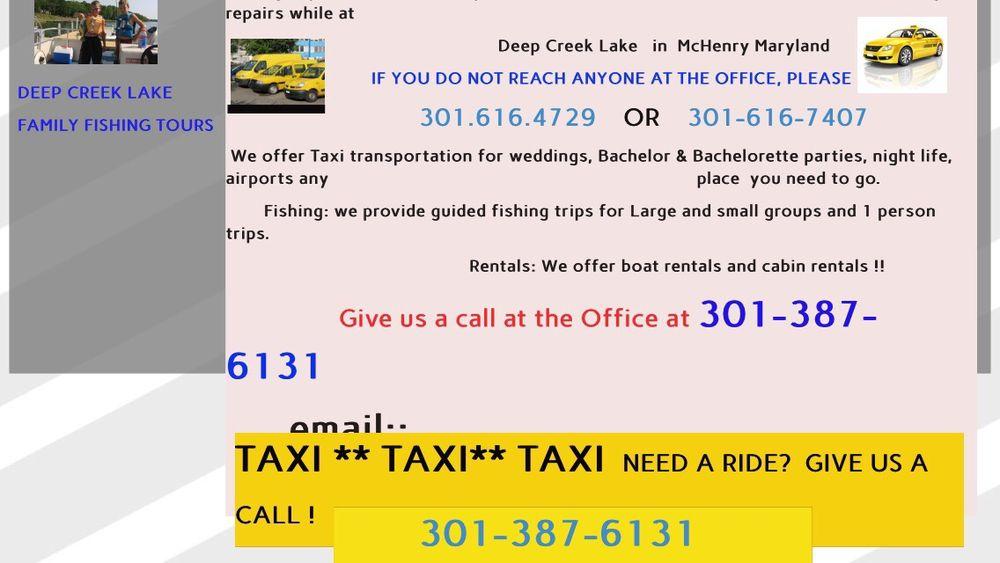 Deep Creek Lake Taxi: Oakland, MD
