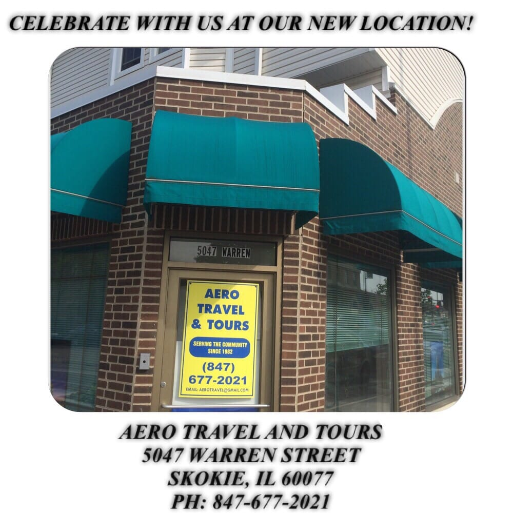 Aero Travel & Tours: 5047 Warren St, Skokie, IL