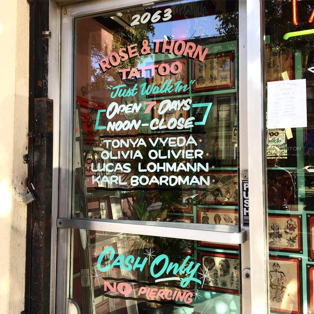 Rose & Thorn Tattoo: 2063 Mission St, San Francisco, CA