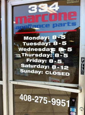 Marcone Appliance Parts Downtown San Jose Ca Yelp