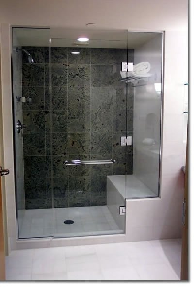 Two Tone Shower With Bench Seat Yelp