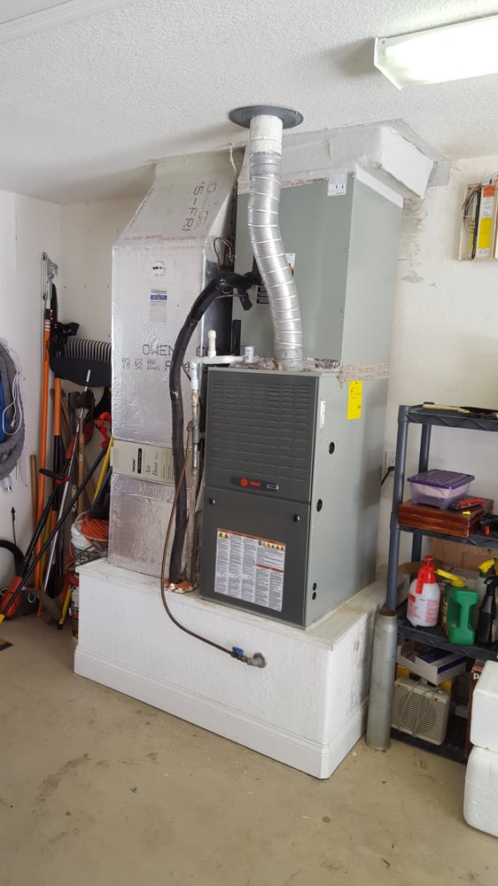 New trane gas furnace install melbourne fl yelp for How to choose a gas furnace