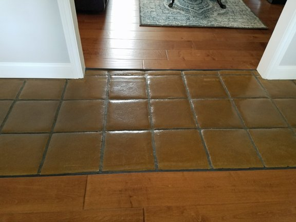 Seamless View Of Hardwood Flooring With Stamped Concrete Yelp