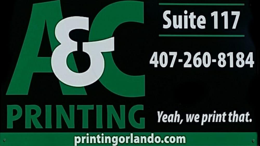 A&C Printing: 174 Semoran Commerce Pl, Apopka, FL