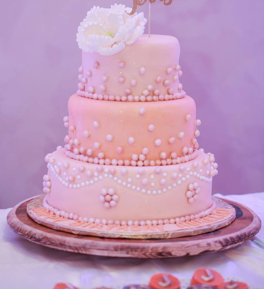 Beautiful Birthday cake with each layer in a different flavor Yelp